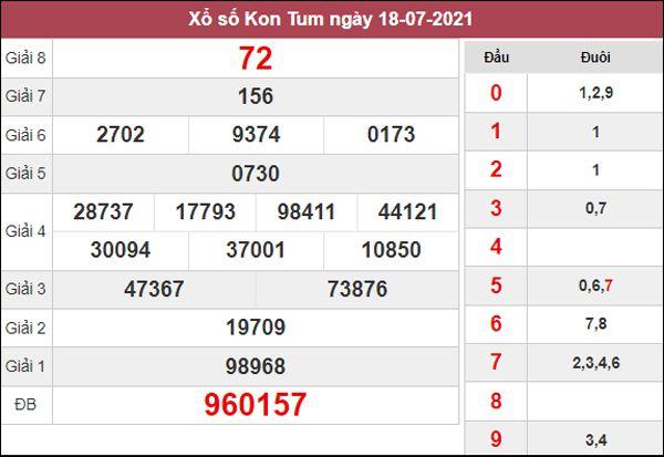 Thống kê XSKT 25/7/2021 chốt loto gan Kon Tum chủ nhật